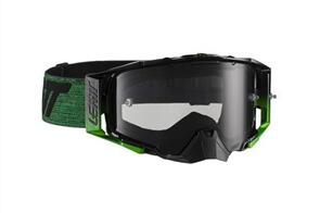 LEATT 6.5 VELOCITY GOGGLE (DARK SMOKE LENS) - BLACK/GREEN