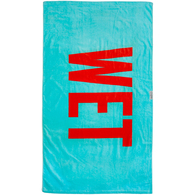 LEUS TOWEL WET BLUE