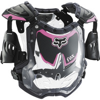 FOX RACING YOUTH GIRLS R3 ROOST DEFLECTOR [BLACK/PINK]