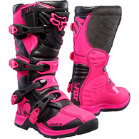 FOX RACING YOUTH COMP BOOTS [BLACK/PINK] 1