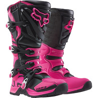 FOX RACING WOMENS COMP BOOTS [BLACK/PINK]