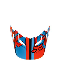 FOX RACING 2017 YOUTH V1 HELMET VISOR FALCON [BLACK/ORANGE]