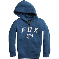FOX YOUTH LEGACY MOTH ZIP FLEECE [DUSTY BLUE]