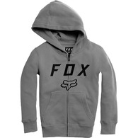 FOX YOUTH LEGACY MOTH ZIP FLEECE [HEATHER GRAPHITE]