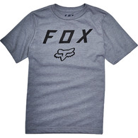 FOX YOUTH LEGACY MOTH SS TEE [HEATHER GRAPHITE]