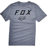FOX YOUTH LEGACY MOTH SS TEE [HEATHER GRAPHITE]