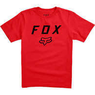 FOX YOUTH LEGACY MOTH SS TEE [DARK RED]