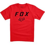 FOX YOUTH LEGACY MOTH SS TEE [DARK RED]