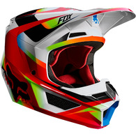 FOX RACING V1 MOTIF HELMET [RED/WHITE]