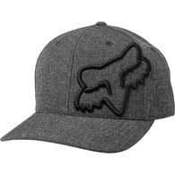 FOX RACING CLOUDED FLEXFIT HAT [BLACK/BLACK]