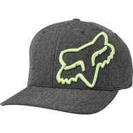 FOX RACING CLOUDED FLEXFIT HAT [BLACK/GREEN]
