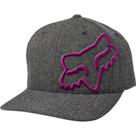 FOX RACING CLOUDED FLEXFIT HAT [BLACK/PURPLE]