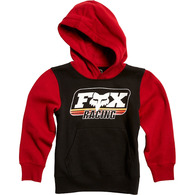 FOX YOUTH THROWBACK PULLOVER FLEECE [BLACK]