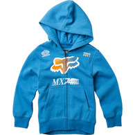 FOX YOUTH BACKDRAFTER ZIP HOOD [DUSTY BLUE]