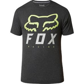 FOX RACING HERITAGE FORGER SS TECH TEE [BLACK/GREEN]
