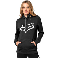 FOX RACING WOMENS CENTERED PULLOVER HOODY [BLACK]