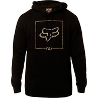 FOX CHAPPED PULLOVER FLEECE HOODY [BLACK]