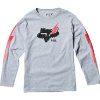 FOX YOUTH HELLION LS TEE [LIGHT HEATHER GREY]