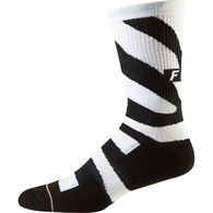"FOX RACING 8"""" TRAIL CUSHION SOCK [ZEBRA]"