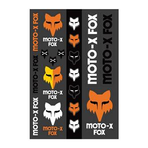 FOX RACING HERITAGE STICKER TRACK PACK [BLACK/WHITE/ORANGE]
