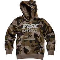 FOX YOUTH CHARGER PULLOVER FLEECE HOOD [CAMO]