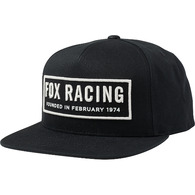 FOX RACING FOUNDED SNAPBACK HAT [BLACK]