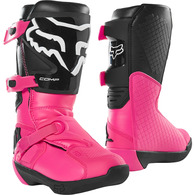 FOX RACING YOUTH COMP BOOT [BLACK/PINK]