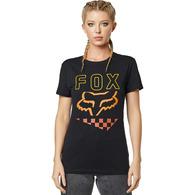 FOX RACING WOMENS RICHTER SS TEE [BLACK]