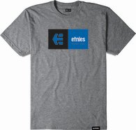 ETNIES EBLOCK TEE [GREY/HEATHER]