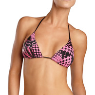 FOX RACING WOMENS SMASH STRING TRIANGLE BIKINI TOP [BUBBLEGUM]