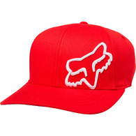 FOX YOUTH FLEX 45 FLEXFIT HAT [DARK RED]