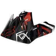 FOX RACING V3 LE PRINT VISOR [RED/BLACK]