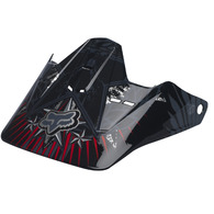 FOX RACING V1 HELMET VISOR REVOLUTION [BLACK/WHITE]