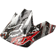 FOX RACING V3 RIOT HELMET VISOR [BLACK/RED]