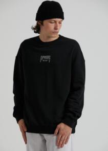 AFENDS RECYCLE OR DIE - OVERSIZED CREW NECK - BLACK