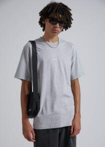 AFENDS SOCIETY - UNISEX RETRO FIT TEE - GREY MARLE