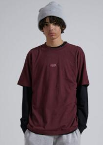 AFENDS SOCIETY - UNISEX RETRO FIT TEE - WINE
