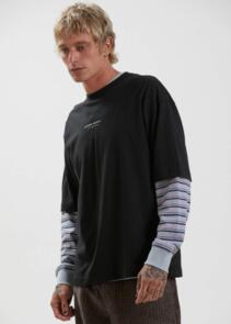 AFENDS SUPPLY - RECYCLED OVERSIZED FIT TEE - BLACK