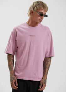 AFENDS SUPPLY - RECYCLED OVERSIZED FIT TEE - SMOKEY PINK