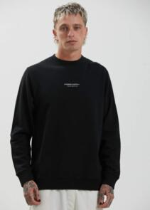 AFENDS SUPPLY - RECYCLED CREW NECK - BLACK
