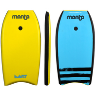 "MANTA 2020 DART BODYBOARD YELLOW 33"""""