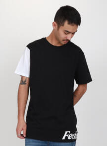 FEDERATION CONTRAST AYE TEE - WRAPPED BLACK / WHITE