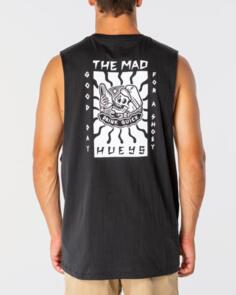 THE MAD HUEYS GOOD DAY FOR IT MUSCLE VINTAGE BLACK
