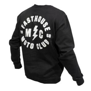 FASTHOUSE MOTO CLUB CREW PULLOVER BLACK