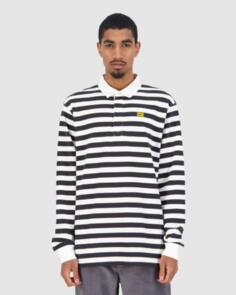 HUFFER MONO LS RUGBY BLACK/WHITE