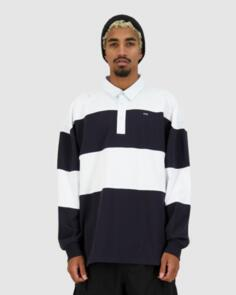 HUFFER GRAND RUGBY POLO NAVY/WHITE