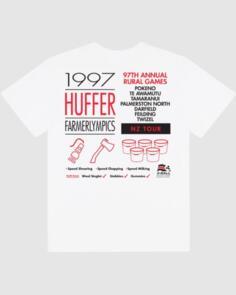 HUFFER MENS SUP TEE/RURAL GAMES WHITE