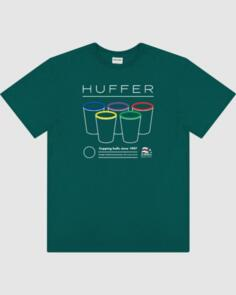 HUFFER MENS SUP TEE/CUPPING BALLS EMERALD