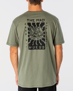THE MAD HUEYS GOOD DAY FOR IT TEE DUSTY GREEN