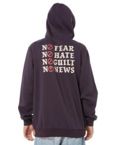 NO NEWS NO FEAR POP HOOD WASHED BLACK